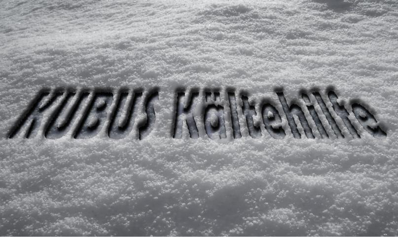Schnee - Postkarte